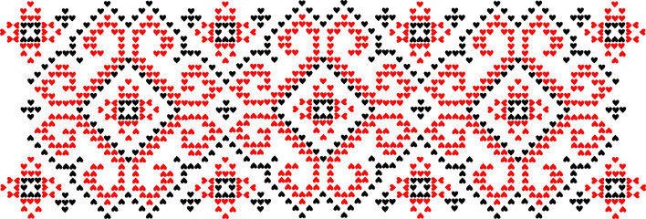 Ornament a pattern a vector it is isolated an embroidery