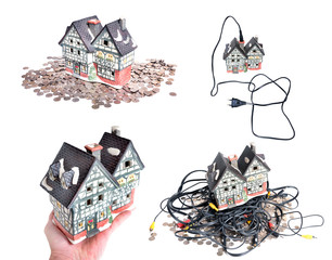 Cheap electrified house