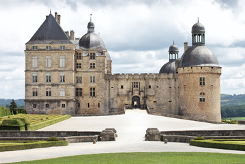 Chateau Hautefort in Dordogne, Aquitaine. France