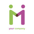 Logo letter M, friendship # Vector