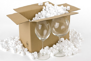 Glaswaren sicher  verpacken