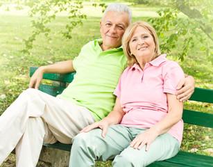 Happy senior couple relaxed
