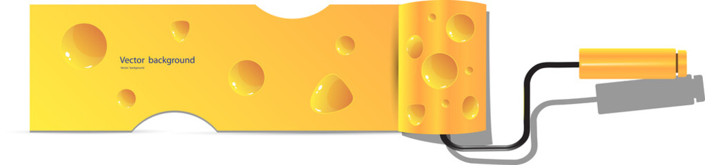 cheese roller  vector