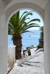 View if the Mediterramean Sea through an Arch at Nerja