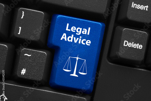 """canvas print picture """"LEGAL ADVICE"""" key on keyboard (scales of justice law)"""