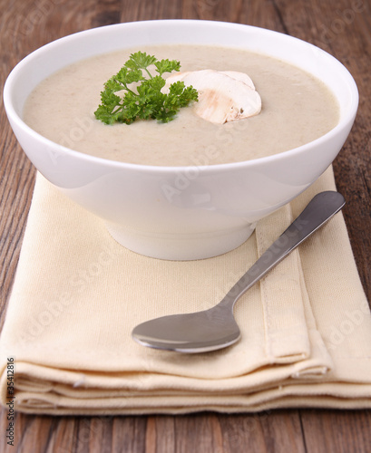 soupe aux champignons by royalty free stock. Black Bedroom Furniture Sets. Home Design Ideas