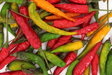 Dry colorful chilli peppers