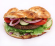 doner kebab sandwich isolated on white