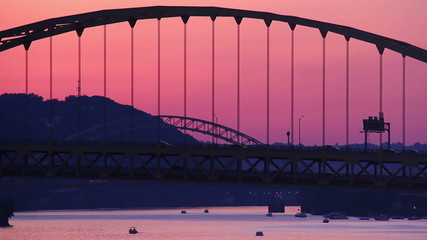 Fort Pitt Bridge at Dusk