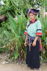 Frau von Laos in Tracht