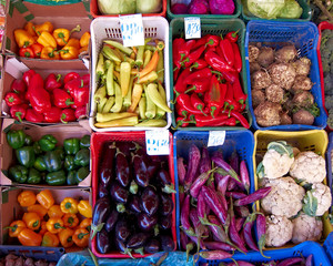 variety of vegetables at the Greengrocer