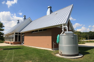 Modern cistern water collection system