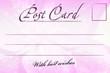 pink vintage postcard