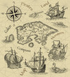 Old pirate map