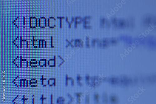 HTML-Code (Nahaufnahme)