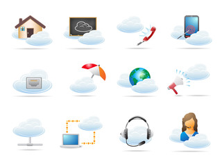 Cloud computing concept Icon