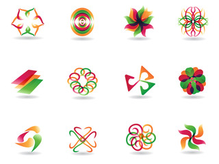 abstract colorful icons