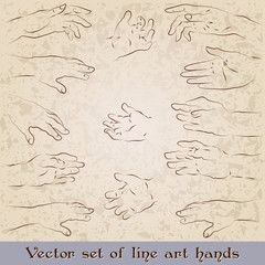 Retro style hand illustrations