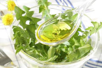 Assaisonnement - Salade de pissenlit