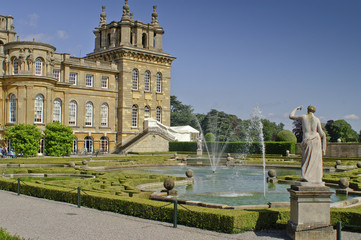 West facade of Blenheim Palace in Woodstock (United Kingdom)