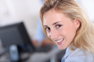 Portrait of smiling office worker