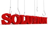 search of solution. business concept