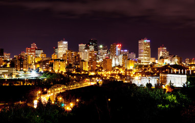 Edmonton by night