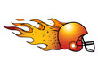 Flaming Football Helmet! Vector
