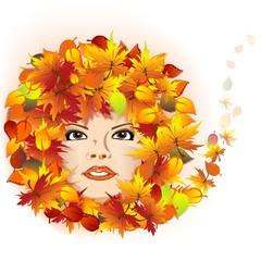 Herbst | Herbstblätter | Gesicht