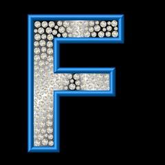 Diamant Buchstabe F