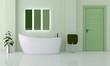 Stanza da bagno verde