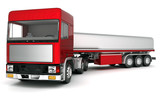 image truck with cargo on a white background