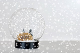 Christmas believe snow globe poster
