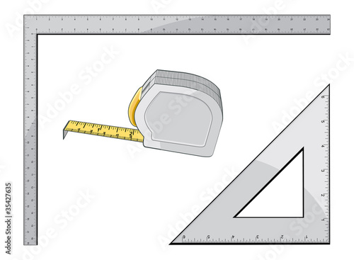 Tape Measure Square and Triangle