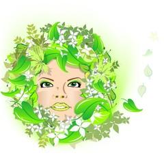 Frühling | Blatt | Gesicht