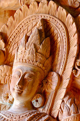 Carved on teak wood ( angel thai )