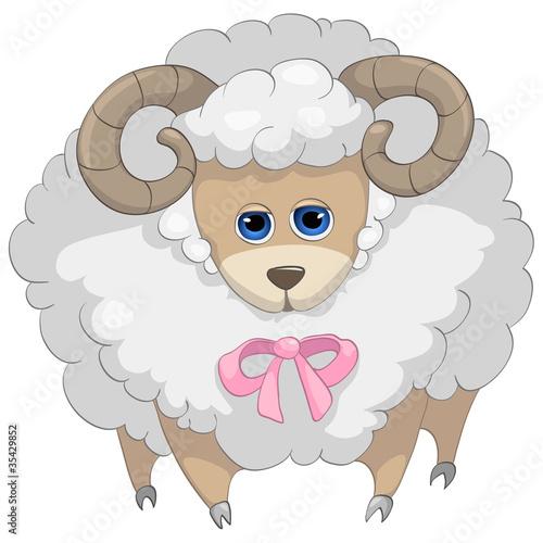 postac-z-kreskowki-owiec