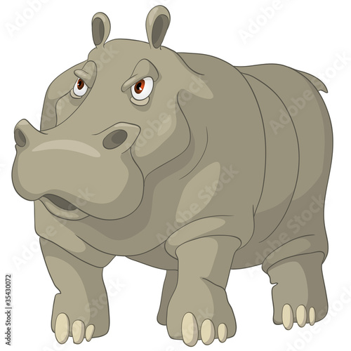 postac-z-kreskowki-hipopotama