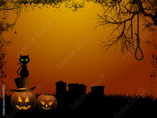 Halloween background and hangmans nooseai