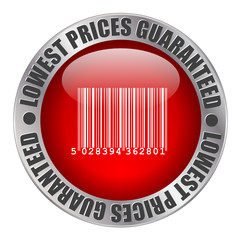 « LOWEST PRICES GUARANTEED » stamp (great savings sale)