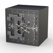 Safe in stainless steel. Bank Vault