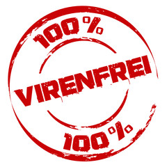 Stempel: 100 % Virenfrei