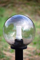 eco light bulb into a street lamp