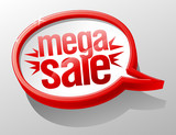 Mega sale shiny glass speech bubble poster