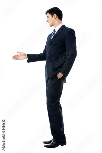 Businessman giving hand for handshake