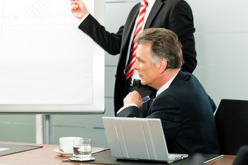 Business - Präsentation vor dem Chef