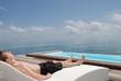 Relaxen Rattan Rattanliege Meer Ocean