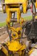 Hydraulik und Mechanik an einer Baumaschine