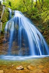 beautiful blue waterfall
