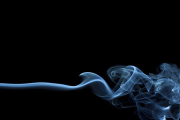 Abstract smoke, black background.